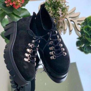 pantofi piele naturala camila black