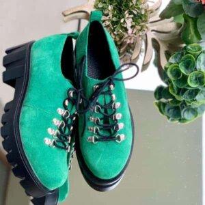 pantofi piele naturala camila green