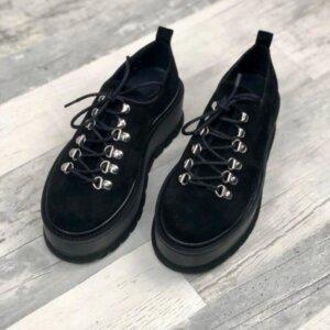 pantofi piele naturala isabel black