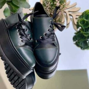 pantofi piele naturala julien dark green
