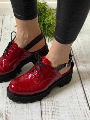 pantofi piele naturala consuelo shiny cherry (4)