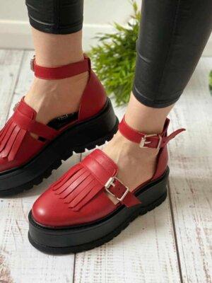 pantofi piele naturala nora red (2)