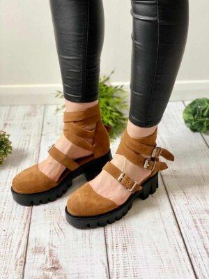 pantofi piele naturala rock glamour hazel