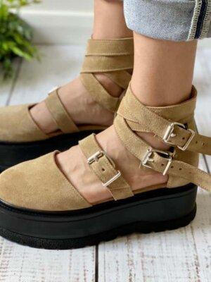 pantofi din piele naturala kayla cream (5)