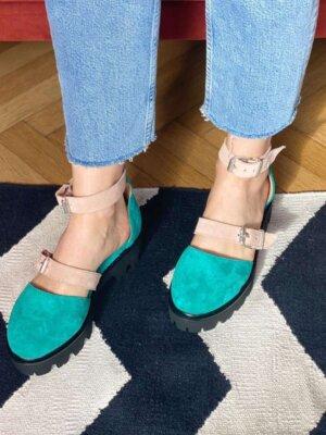 pantofi din piele naturala luiza emerald (4)