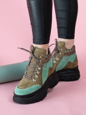 Sneakers-piele-alice-croco-army-2